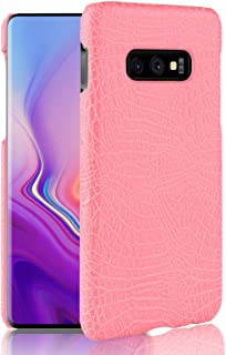 Protective Case Compatible with Samsung Luxury Classic Crocodile Skin Pattern [Ultra Slim] PU Leather Anti-Scratch PC Protective Hard Case Cover Compatible Samsung Galaxy S10 Lite Phone case