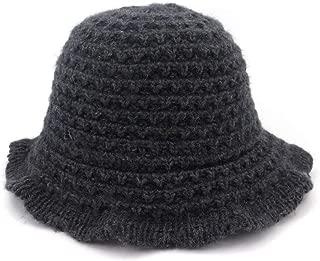 MZHHAOAN Knit Hat Autumn and Winter Korean Version of The Basin Cap Fisherman Cap Foldable Simple Warm Line Cap,Khaki,One Size