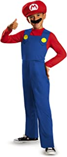 Disguise Nintendo Super Mario Brothers Mario Classic Boys Costume, Medium/7-8