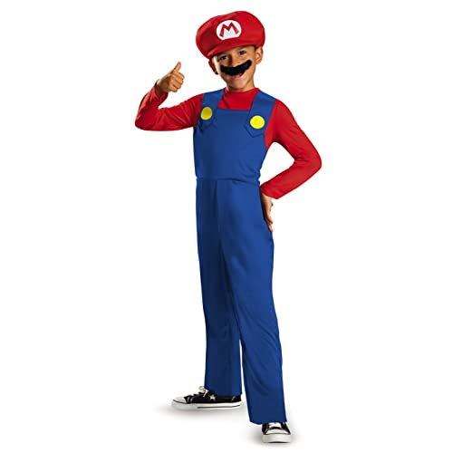 Men/'s Super Plumber Brothers Game Costume 5 Piece Set