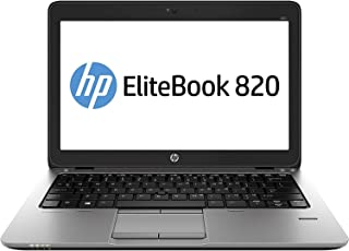 HP EliteBook 820 G1 portátil Ultrabook de 12 pulgadas (Intel Core i5-4300U, 8 GB de RAM, 180 GB SSD, WiFi, WebCam, Windows...