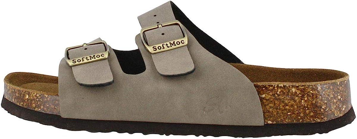 SoftMoc Women's Anna 5 PU Cork List Year-end gift price Sandal Medi Slide 7 Footbed Mocha