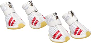 PET LIFE 'Air-Mesh' Flexible Lightweight Sporty Fashion Breathable Pet Dog Shoes Sneakers Booties Boots w/Rubberized Grips...