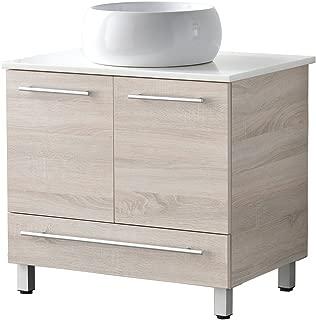 LifeSky  Modern bathroom vanity, White 034