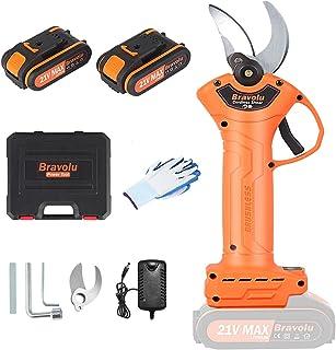 Sponsored Ad – Bravolu Cordless Pruning Shears, Professional Power Secateurs with 1 Inch Cutting Diameter, 2pcs 2000 Mah L...