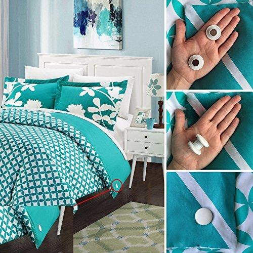 Duvet Dotz - Duvet/Comforter Strong Magnetic Fasteners (Comforter Grips/Duvet Cover Clips/Magnetic Duvet Clip/Duvet Donuts (1 Set or 4 - Enough for 1 Bed)) by Duvet Dotz