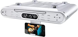 GPX KC232S Under Cabinet CD Player with AM/FM Radio - Silver