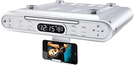 GPX KC232S Under Cabinet CD Player with AM/FM Radio – Silver