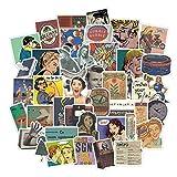 Nostalgic Retro Poster Sticker Bagagli Laptop Art Painting Kill Bill Pulp Fiction Poster Sticker Adesivo Impermeabile 50Pcs
