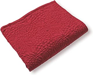 Stylemaster GARDENIA EMBROIDERED QUILTED BEDSPREAD, Twin, Burgundy