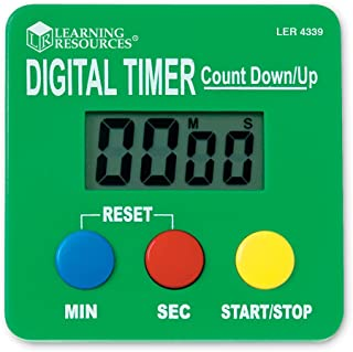 Learning Resources Digital Timer, Count Down/Up, Displays Seconds/Minutes, Ages 5+