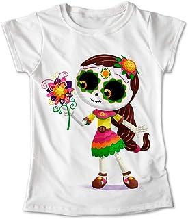 Blusa Colores Playera Tradición Mexicana Calaveras Dia De Muertos Coco  268 7a77df503dc5a