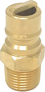 """MADOL 1/2 """" Quick Connect/Disconnect Insert Plug X 1/2 inch Male NPT [3308] Natural Gas Propane Fitting Connector Solid Brass Coupler"""
