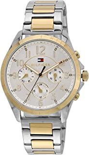 Tommy Hilfiger Women's Silver Dial Stainless Steel Band Watch - 1781607