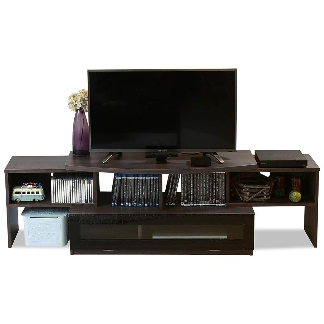 種急襲ウッズJKプラン テレビ台 コーナー テレビボード テレビラック 伸縮 テレビ台 40型 対応 配線すっきり コーナーにも壁面にも自由自在 北欧 TV台 ブラウン TSFTV0002BRBK