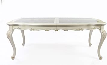 Acme Furniture 63540 Chantelle Dining Table, Marble/Pearl White