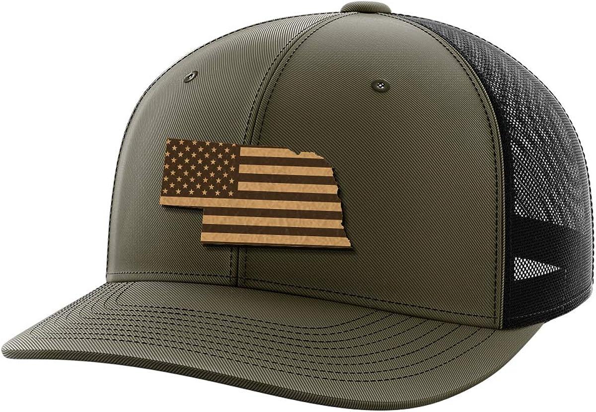 Nebraska United Leather Patch Hat