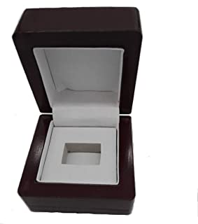 TIKIYOGI Display Wooden Single Ring Box (Fit Mens Big Heavy Ring)