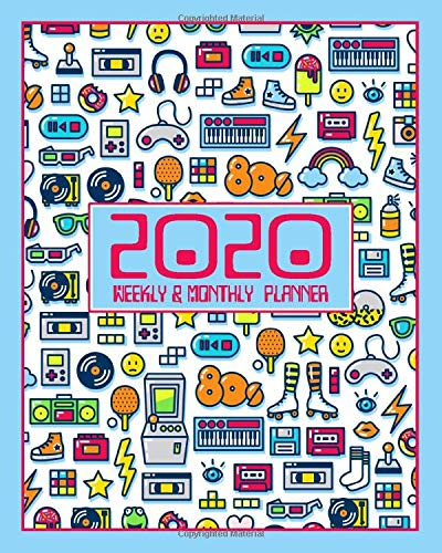 2020 Planner Weekly and Monthly: 80's Retro clip art pattern | 8