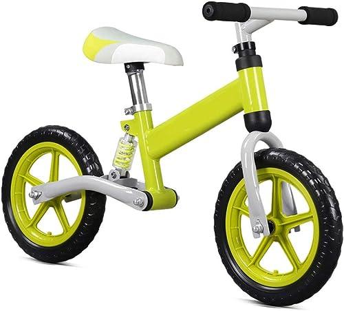 Centro comercial profesional integrado en línea. Para Niños de 2 a 7 7 7 años Muchachas de 12 Bicicleta de Equilibrio con amortiguación Neumáticos sin Aire Manillar Antideslizante Asiento Ajustable Sin Pedal Empujar y Caminar Niños y Niños pequeños Ent  tienda en linea