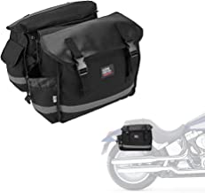 Motorcycle Saddle Bags, Middle-Sized Motorcycle Side Saddlebags Scooter Panniers with Hard Liner
