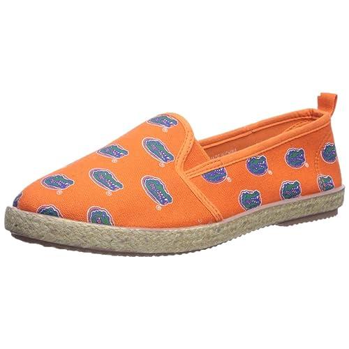 1960fa8c4 NCAA Team Logo Womens Canvas Espadrille Slip On Flats Shoes