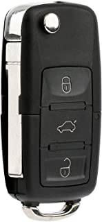 KeylessOption Keyless Entry Remote Control Car Uncut Blade Flip Key Fob for VW NBG010180T