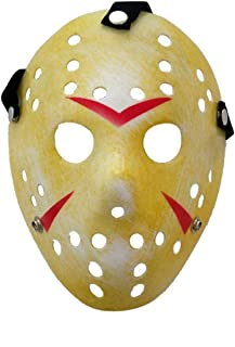 Jason Mask Masquerade Mask Cosplay Costume Halloween Killer Halloween Mask - Yellow