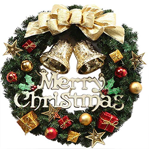 Flower wreath, door wreath, decorative wreath, nature, wreathMerry Christmas Party Poinsettia Wreath Small Bell Door Wall Garland Decoration