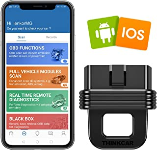 thinkcar 1S Bluetooth OBD2 Scanner, Enhanced Version with Full Systems Diagnoses and 10 OBD2 Functions, Ideal Code Reader for All Vehicles