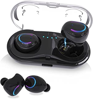 $28 Get Bluetooth Headphones,Waterproof Earbuds 3D Surround Sound Headphones Sports Headphones Built-in Microphone in-Ear Headphones for iOS Android-7