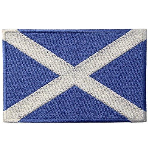 Schottland Flagge Emblem Schottisch Bestickter Aufnäher zum Aufbügeln/Annähen