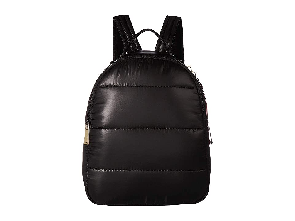 Tommy Hilfiger Ames Puffy Solid Nylon Backpack (Black) Backpack Bags