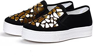 lcky Summer Pedals Fashion Canvas Shoes Women's Thick-Soled Sneakers Lazy Shoes