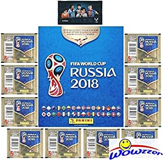 2018 Panini FIFA World Cup Russia AMAZING SPECIAL COLLECTORS PACKAGE with 80 Page Collectors Album,60 Brand New Stickers &...