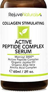 Peptide Complex Serum with Matrixyl 3000 (2 oz, Double-Sized) Minimizes Look of Fine Lines & Deep Wrinkles, Crow's Feet, Crepey Skin. Lightweight Anti Aging Moisturizer for Face & Neck