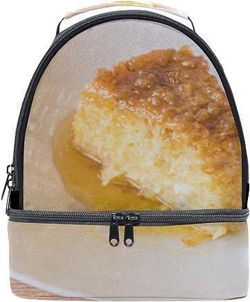 Frutant Pudding Food Portátil Hombro Tote Lunch Bag Bolso Niños Doble Caja de Almuerzo Reutilizable Aislante