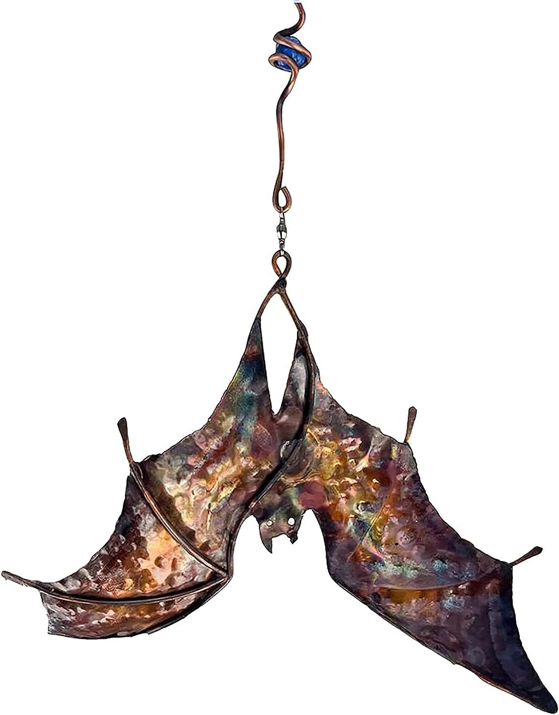 Bat Spinners Bat Wind Catcher Bat Wind Spinner Wind Sculpture with Hanging Hook for Decoration Indoor Outdoor Garden Yard Art. Holyfly Bat Wind Catcher Wind Spinner