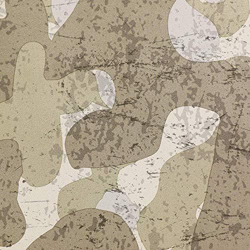 Deshome Zeus Camu – Tejido al metro de suave microfibra antimanchas, altura 140 cm, para muebles de sofá, sillones, asientos puf (gris musgo, 5 metros)