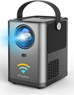ELEPHAS WiFi プロジェクター 4800lm 1920×1080最大解像度 スマホと直接接続 変換ケーブル不要 Bluetoothスピーカー機能 スマホ/パソコン/TV Stick/PS4/Switchゲーム機/DVDプレヤーなど接続...