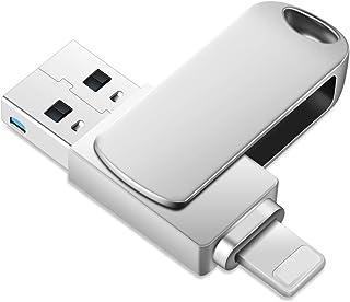 ذاكرة فلاش ميموري لجهاز آيفون، آيباد، ماك 2 في 1 OTG USB 3.0، وحدة تخزين خارجية للإبهام لأجهزة آيباد/كمبيوتر/ماك (256 جيجا...