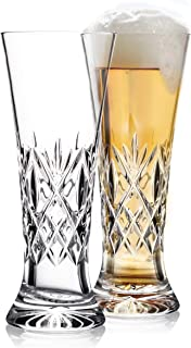 Waterford Crystal Huntley Pilsner Beer Glasses, Pair