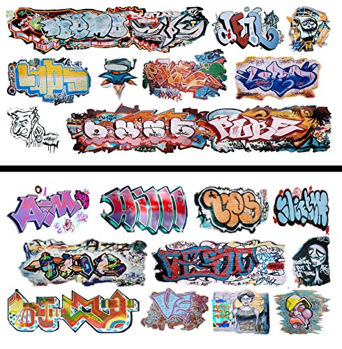 HO Scale Graffiti Waterslide Decals 2-Pack #17 - Weather Your Box Cars, Hoppers, & Gondolas!