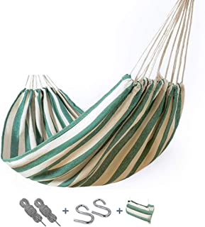 Hdcwz Outdoor Hammock Leisure Indoor College Students Dorm Room Bedroom Camping Single Double Thicken Canvas Swing Camping Lifts