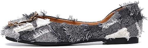 femmeschaussures Chaussures pour Femmes, Chaussures Plates Chaussures pour Rouleaux d'oeufs à Fond Mou,A,35