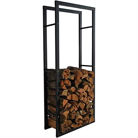 Kaminholzregal rund Holzkorb Brennholzregal Feuerholzständer 57cm Metallständer