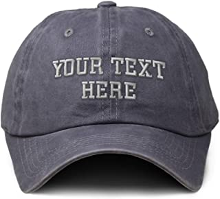 Soft Washed Baseball Cap Custom Personalized Text Dad Hats for Men & Women