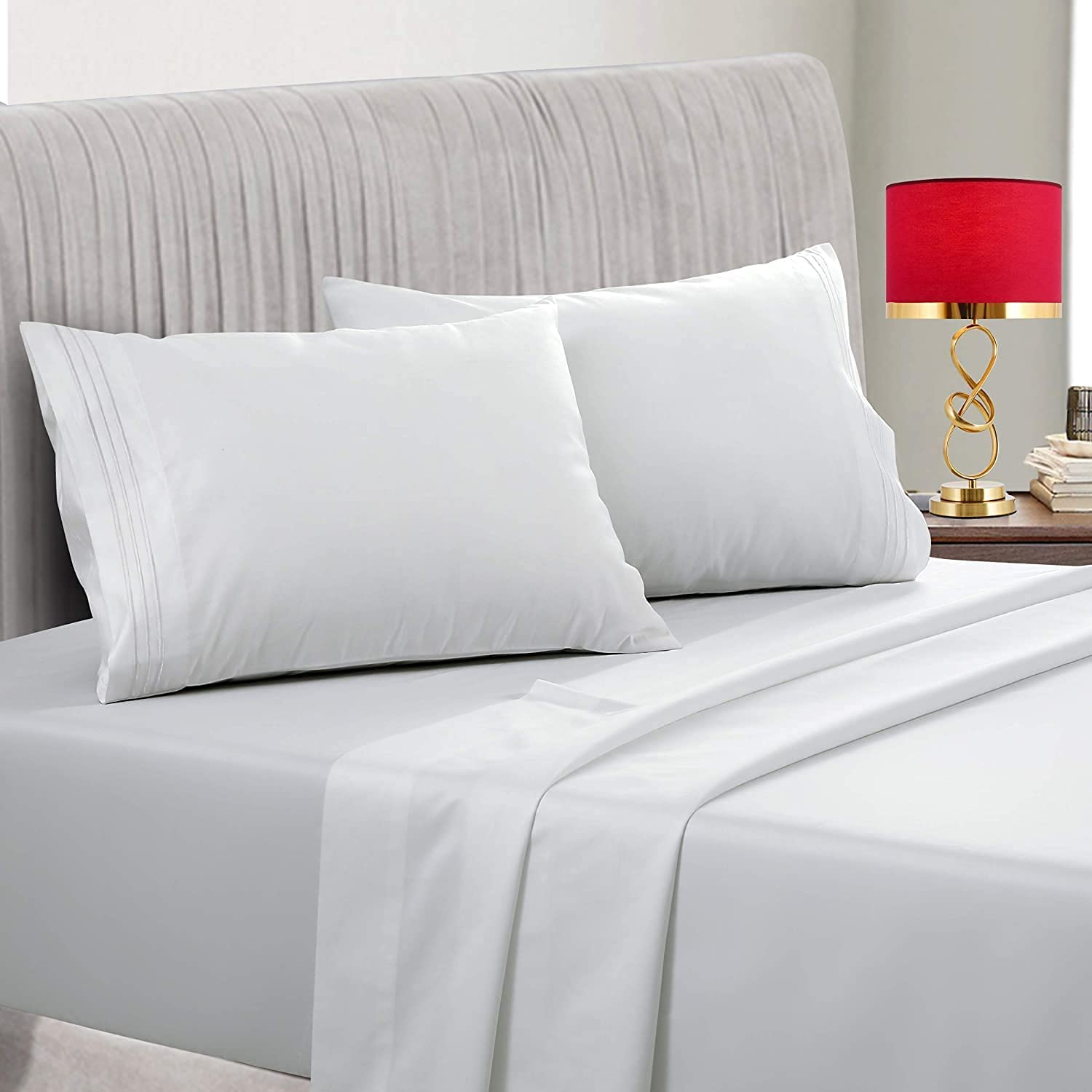 800TC 100% Free Shipping New Cotton Sheets Long-Staple - Queen White Popular standard
