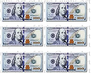 Casino 100 Dollar Bills Birthday - Cake Side Strip - Edible Cake/Cupcake Party Topper - D22804