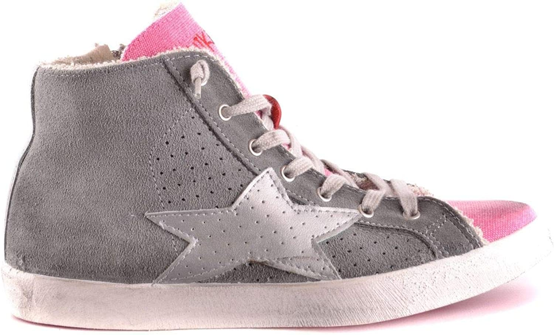 ISHIKAWA Women's MCBI31156 Grey Suede Hi Top Sneakers